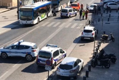 Vehicle crashes into France bus shelters; 1 dead