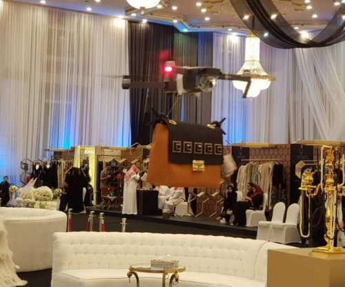 Drones replace models at Saudi Arabian fashion show