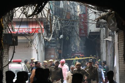 New Delhi factory fire kills at least 43 while workers slept