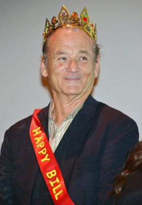 Bill Murray wears crown, sash to film festival screening