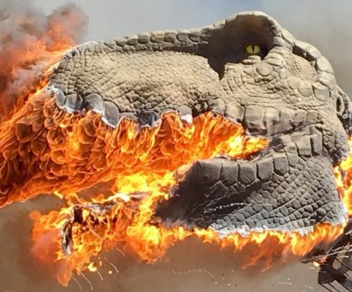 T-Rex goes up in flames at Colorado dinosaur park