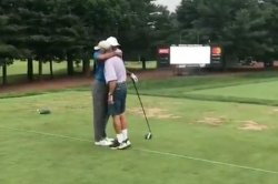 Tiger Woods hugs it out with former caddie 'Fluff'