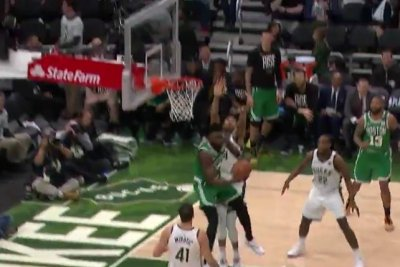 Celtics' Jaylen Brown makes Michael Jordan-esque circus shot over Giannis