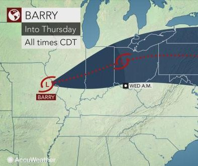 Barry may still pack a punch with heavy downpours, localized flooding
