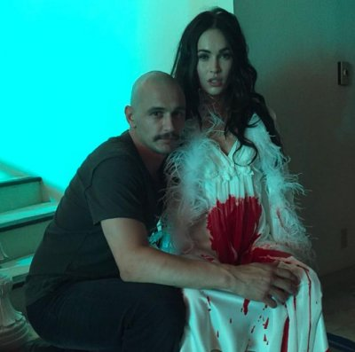 James Franco shares cryptic photo with a bloody Megan Fox