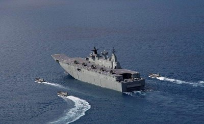 Australia's first LHD ship close to initial operational capability