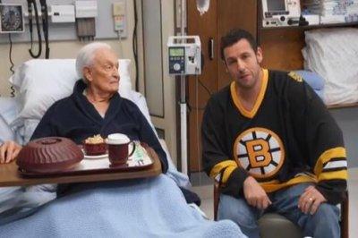 Adam Sandler, Bob Barker continue 'Happy Gilmore' brawl for charity promo