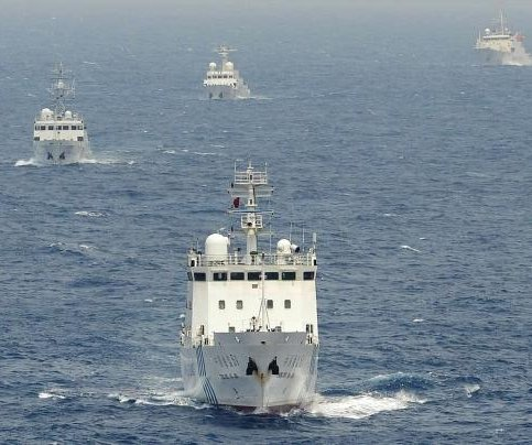 Multiple Chinese naval ships sail near Japan's waters