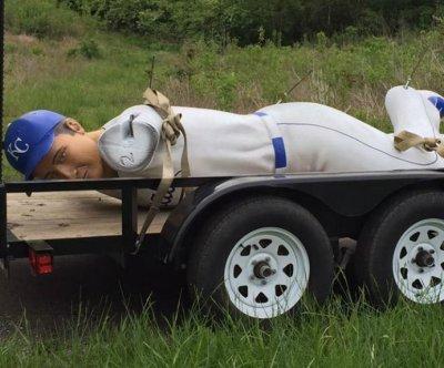 Massive 14-foot baseball player stolen from billboard