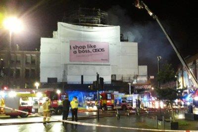 London firefighters battle blaze at iconic Koko music venue