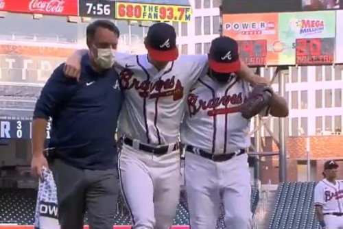 Atlanta Braves ace Mike Soroka suffers torn Achilles, out for season