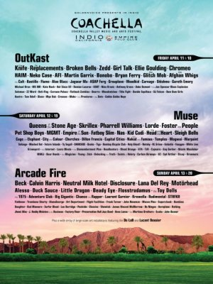 Coachella 2014 lineup includes OutKast reunion, Arcade Fire, Lorde