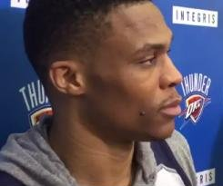 Oklahoma City Thunder's Russell Westbrook comments on being fined for postgame language