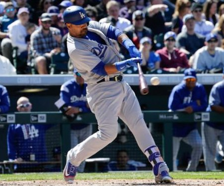 Franklin Gutierrez homers in return, Los Angeles Dodgers rout San Francisco Giants
