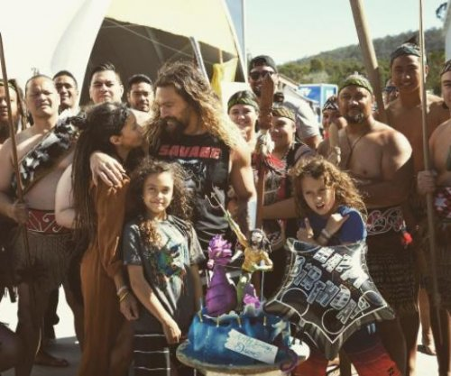 Lisa Bonet surprises Jason Momoa on 'Aquaman' set for his birthday