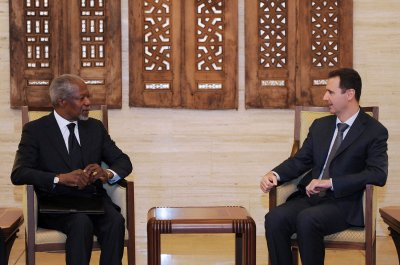 Annan in Damascus; U.N. condemns slaughter