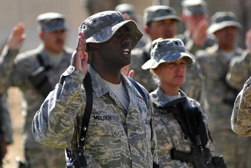 Air Force denies reenlistment after refusal of religious oath