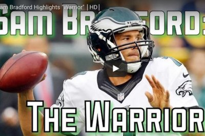 Philadelphia Eagles fan crafts Sam Bradford, Rocky hype video
