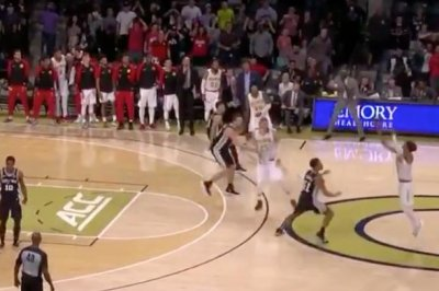 Hawks' Trae Young hits very deep 3-pointer, beats Spurs