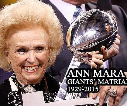 Ann Mara, mother of New York Giants CEO, dies at 85