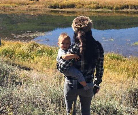 Kourtney Kardashian, son Reign explore Yellowstone