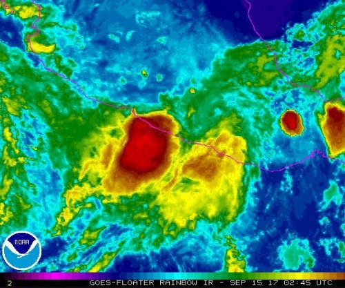 Max weakens to tropical storm over Mexico