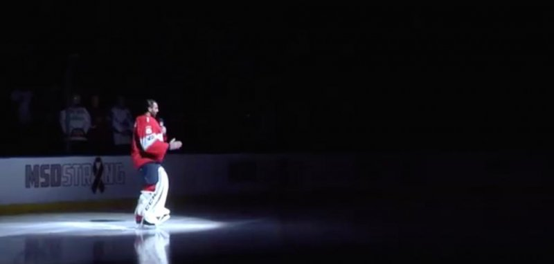 Watch Panthers Luongo Gives Moving Speech After Local School