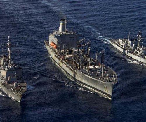 U.S, British naval ships conduct exercises in South China Sea