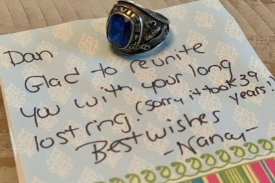 Class ring lost at Rhode Island beach returned 39 years later