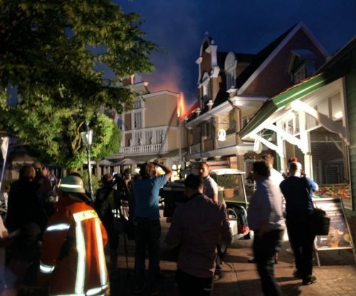 Seven firefighters injured in German amusement park blaze