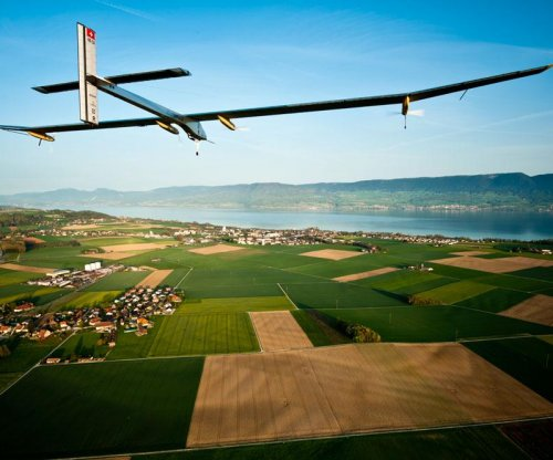 Solar-powered plane successfully takes off for a trip around the world