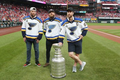 St. Louis Blues celebrate Stanley Cup win with Cardinals at Busch Stadium
