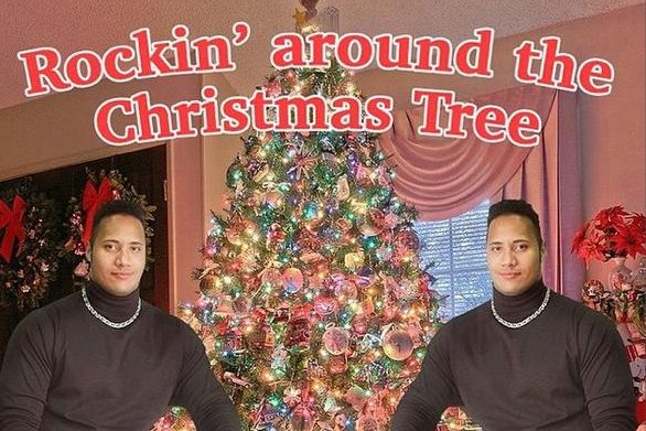 Rock Around The Christmas Tree.Dwayne The Rock Johnson Shares Rockin Christmas Card