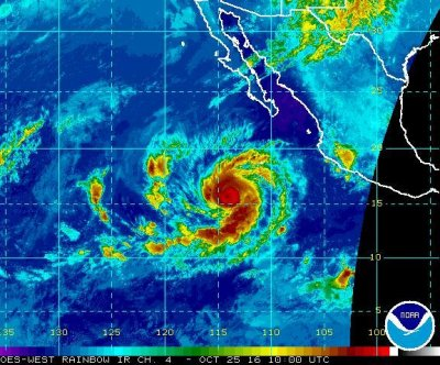 Hurricane Seymour strengthens to Category 3 in Pacific