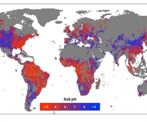 New global map reveals effects of wet and dry climates on soil pH