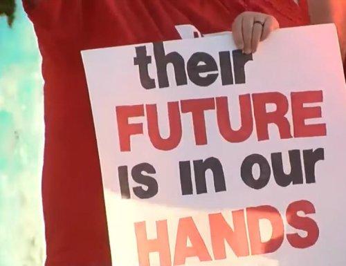 Teachers in Arizona, Colorado walk out for more school money