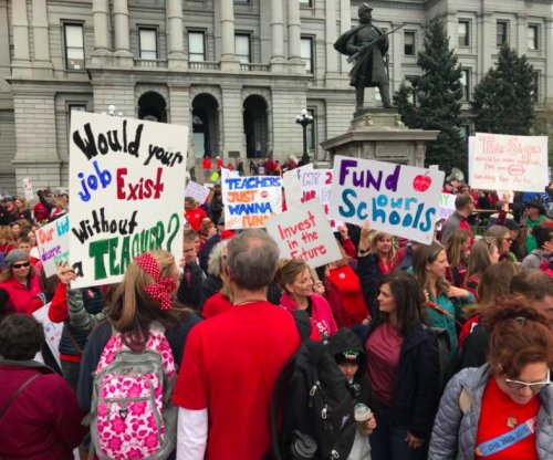 Teachers in Arizona, Colorado walk out for more school money