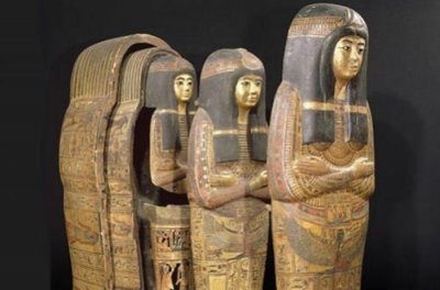 Ancient Egyptian elite interred as one mummy but in multiple coffins