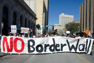 Native Americans join groups in El Paso protesting border wall