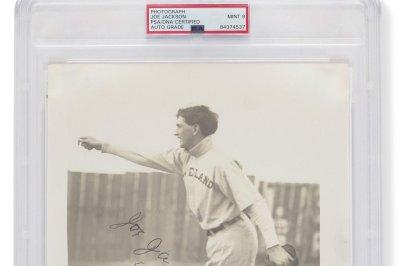 'Shoeless' Joe Jackson baseball photo sells for record $1.4M