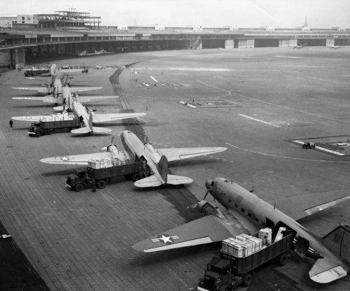 Allies fly supplies to West Berlin; Britain demands Reds lift Berlin blockade