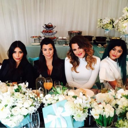 Kourtney Kardashian celebrates at Tiffany-themed baby shower