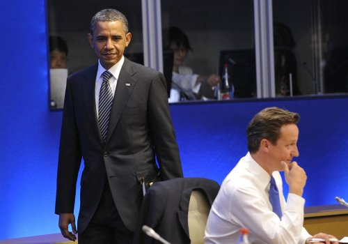 G8: Obama meets with Japan's PM