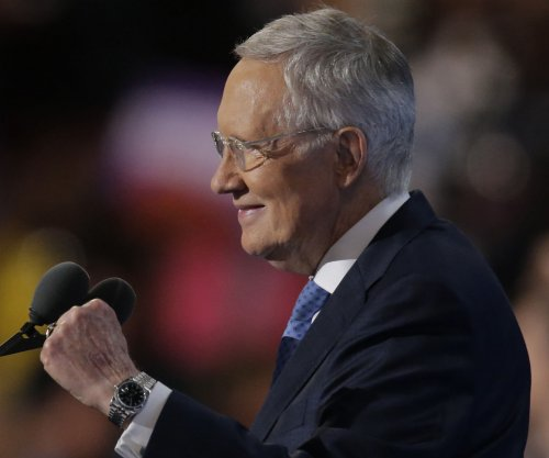 Harry Reid addresses DNC, urges Democrats to 'keep fighting'