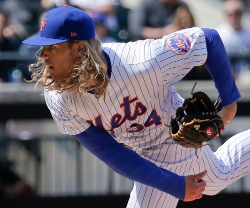 New York Mets RHP Noah Syndergaard visiting specialist after biceps discomfort