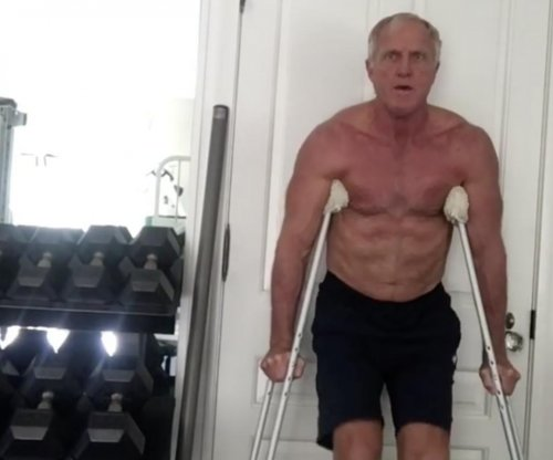Golfer Greg Norman shows off ridiculously muscular physique