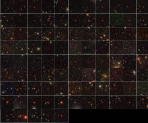 Eighty-three supermassive black holes found in the distant universe