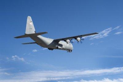 U.S. Air Force C-130 flies with Rolls-Royce T56 engine upgrade