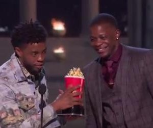 Chadwick Boseman honors James Shaw Jr. at MTV Movie & TV Awards