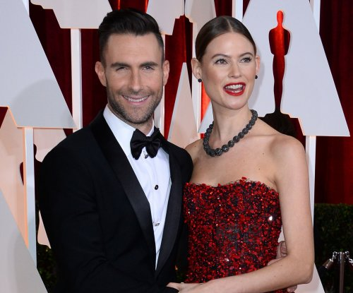 Adam Levine shares beachside photo with Behati Prinsloo, Dusty Rose: 'Everything I need'